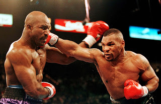 Tyson on the attack