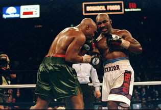 Holyfield's uppercut became decisive