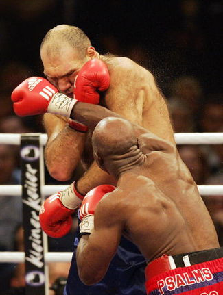 Holyfield's WBA title shot  against Nicolay Valuev