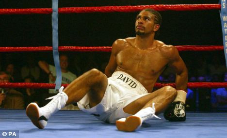 Haye,s first defeat against Carl Thompson