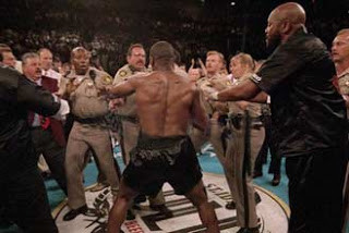 Tyson on the rampage after being disqualified