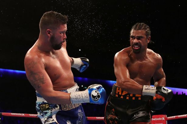 Haye was looking to land bombs on Tony Bellew...