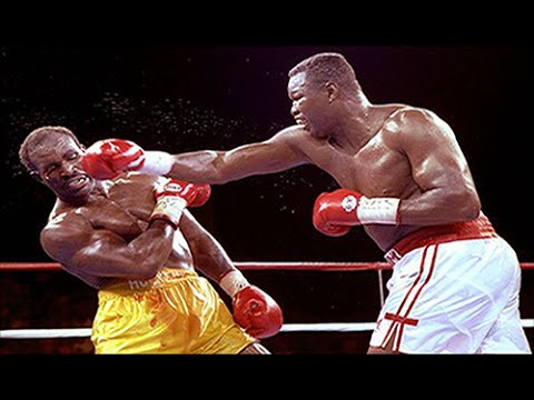 Larry Holmes 'chopping the tree'