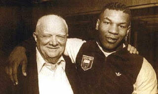 Mike Tyson with his mentor Cus D'Amato