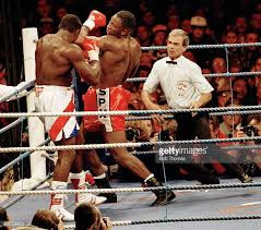 Lewis getting the upper hand against Frank Bruno