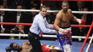 Haye flattens the pacifist Audley Harrison