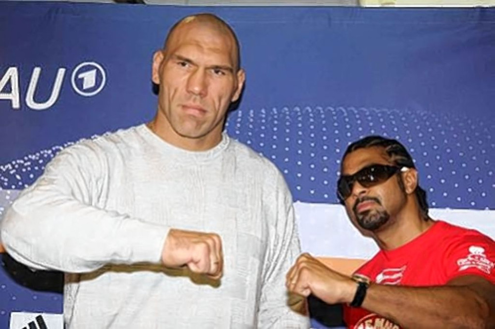 The size difference between Haye  & Valuev was enormous...