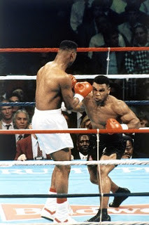 Tyson on the attack against Biggs