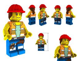 LLDUB_LM_467 FEMALE CONSTRUCTION WORKE