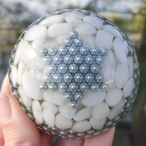 Dome Large  EMF Balance with Snow Quartz