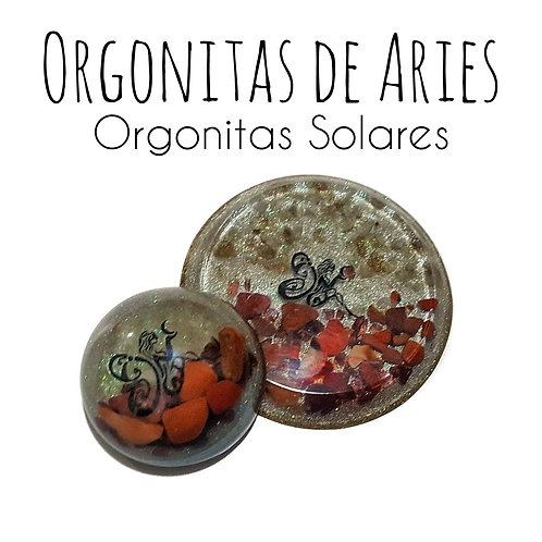 Set of two Orgone pieces for Aries