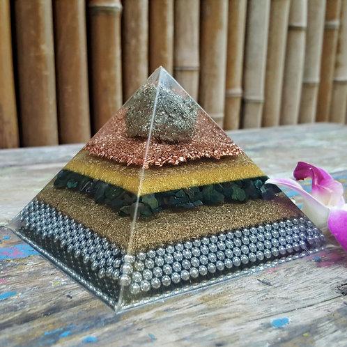 Pyramid XL EMF Balance with bloodstone, galena and pyrite