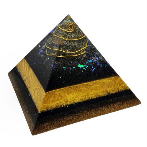Pyramid medium with Pyrite and shungit