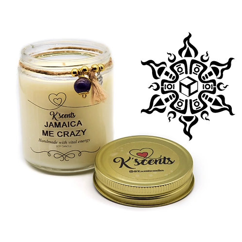 Candle with Orgonite~Jamaica Me Crazy