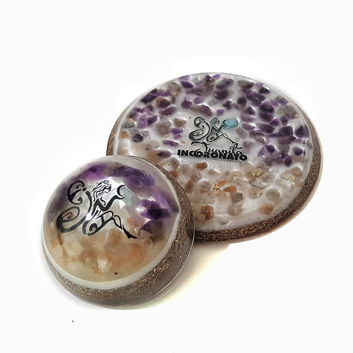 Set of two Orgone pieces for Pisces