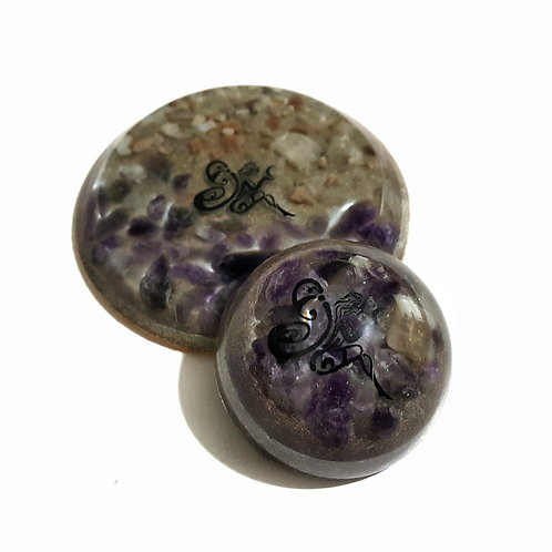 Set of two Orgone pieces for Cancer