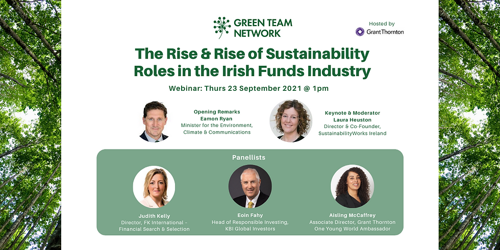 The Rise and Rise of Sustainability Roles in the Irish Funds Industry