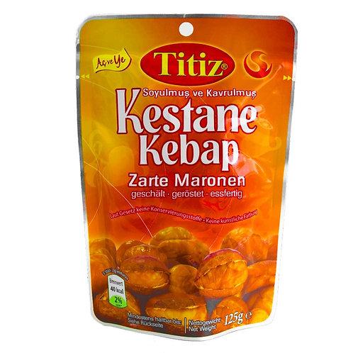 Titiz Zarte Maronen geschält und geröstet · Kestane Kebap