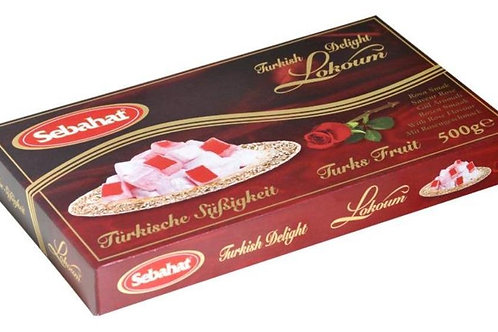 Turkish Delight Lokum, Rose flavor 500 gr. Sebahat