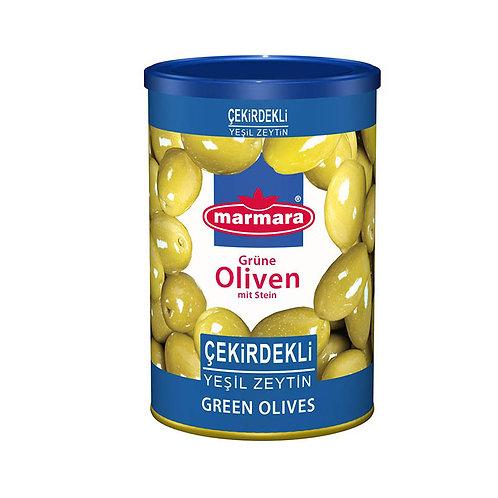 marmara Grüne Oliven mit Stein 400g