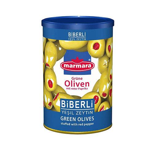 marmara Grüne Oliven mit roter Paprika 400g