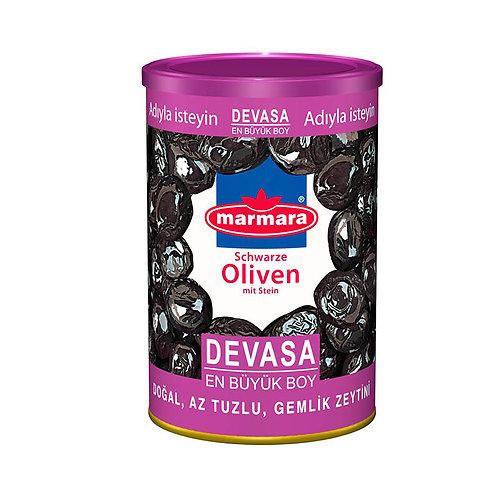 marmara Schwarze Oliven mit Stein L 800g