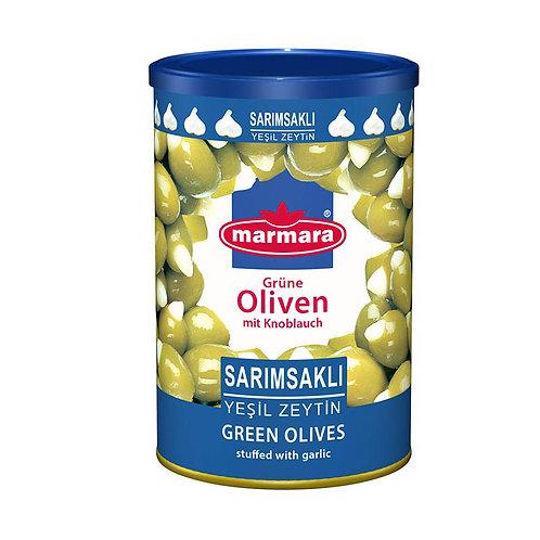 marmara Grüne Oliven mit Knoblauch 720g