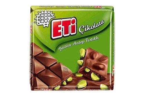 ETI Vollmilschokolade mit Pistazien