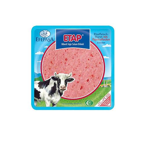 Efepasa Etap Rindfleischwurst mit Paprika in Scheiben