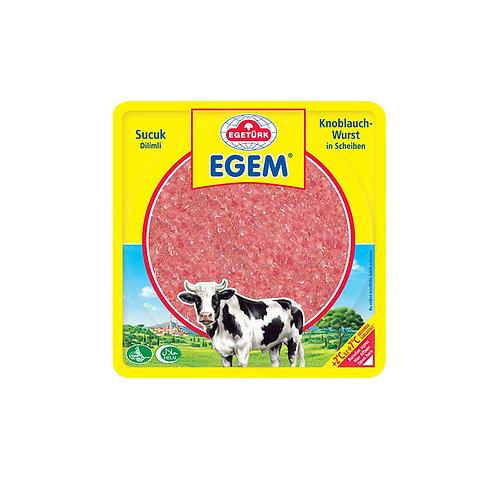 Egetürk Egem Knoblauchwurst in Scheiben