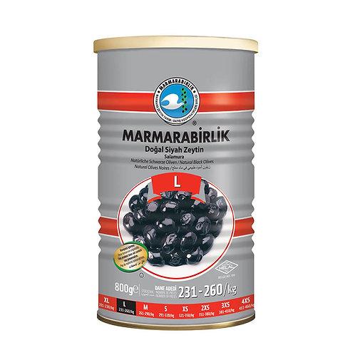 MARMARABIRLIK Hiper N. Schwarze Oliven L 800g