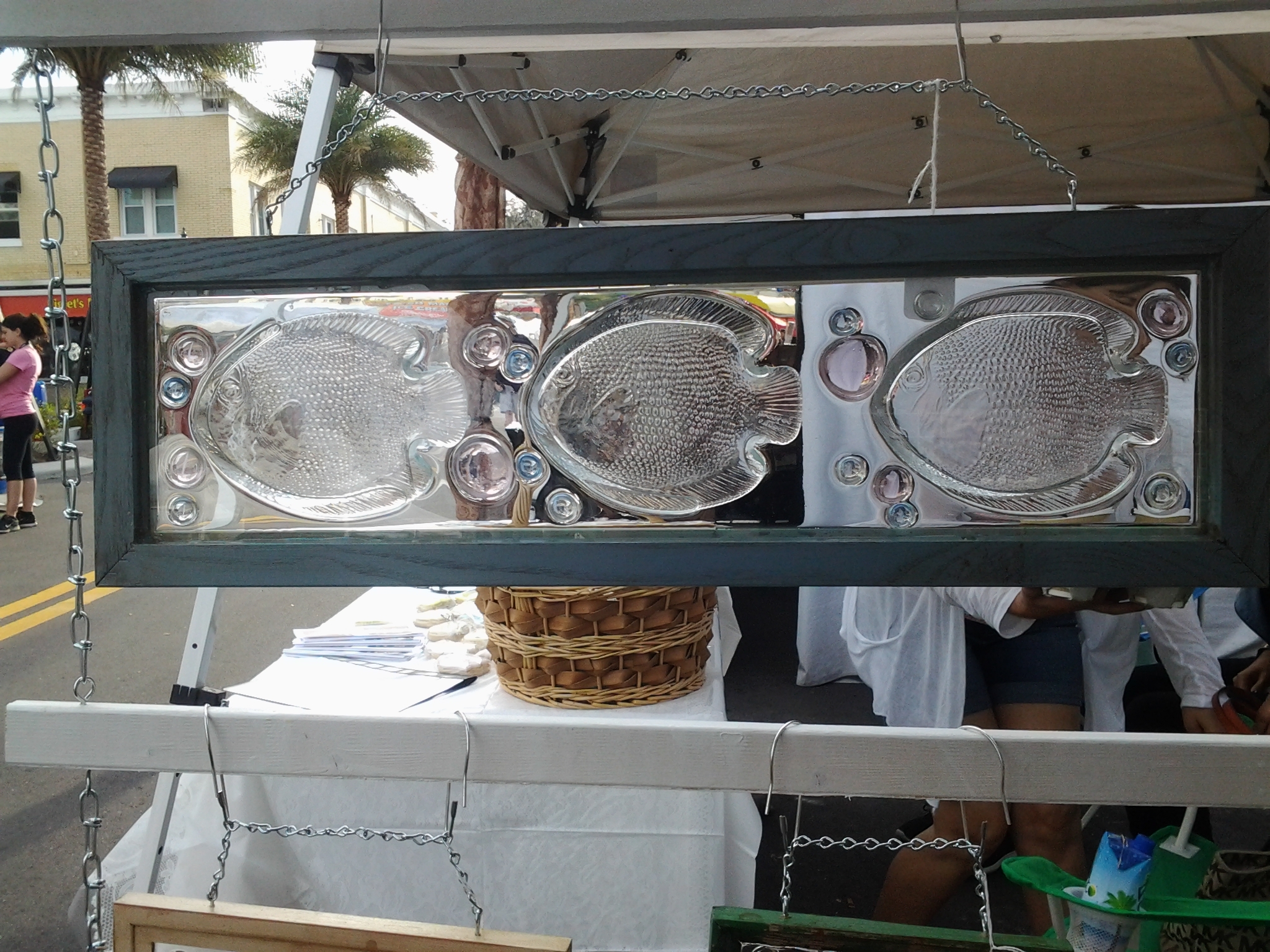 Vintage Clear Fish Plate Frame