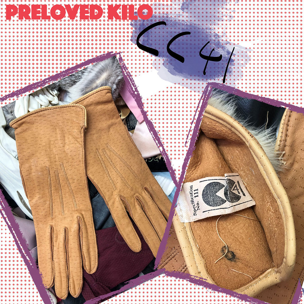 1940's CC41 leather gloves