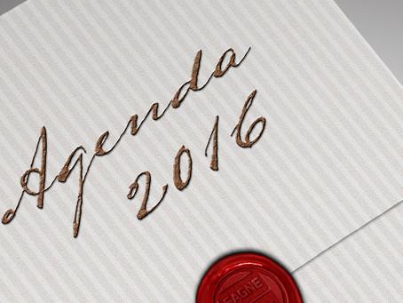 Découvrez votre calendrier pour 2016