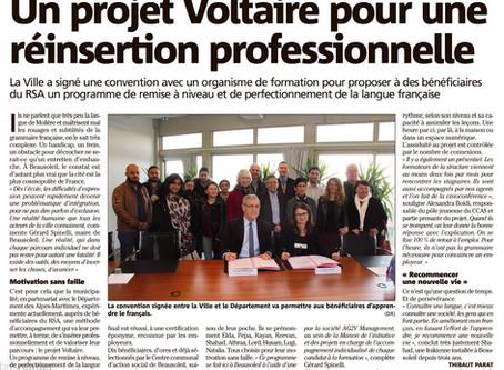 Le projet Voltaire pour une réinsertion professionnelle