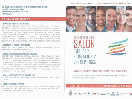 Rdv au forum de l'emploi et de la formation le 10 novembre 2016