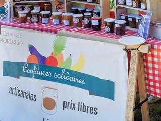 Stand Confitures Solidaires au Marché des délices Bio au bouscat