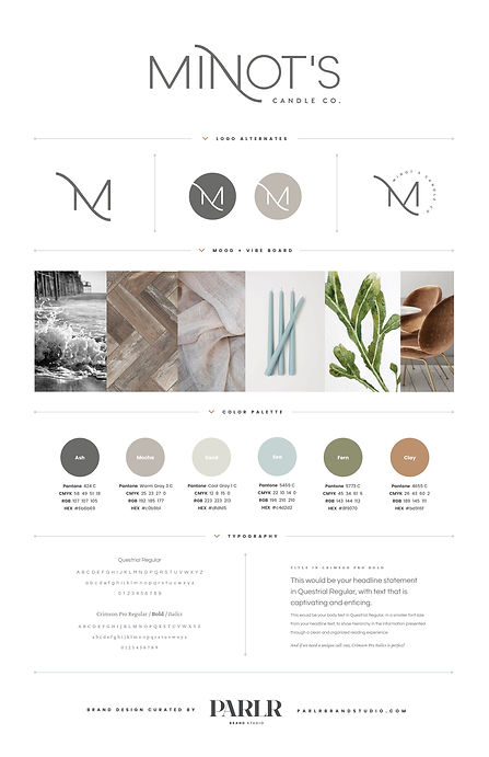 2020 Minot's Candle Co. Mood & Style Gui