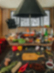 Гриль-домик для пикника общий вид внутри