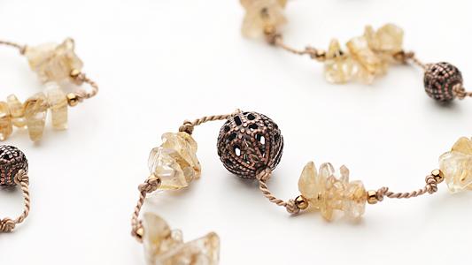 シトリン(黄水晶)のさざれ石ネックレス