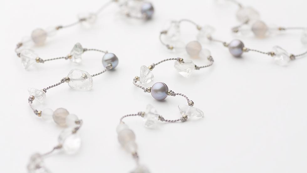 水晶さざれのネックレス