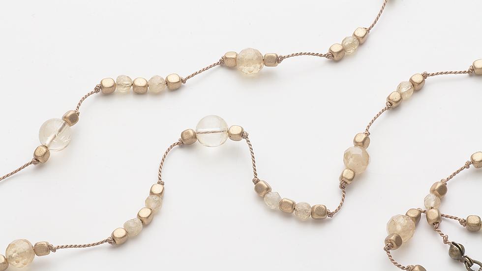 シトリン(黄水晶)のネックレス