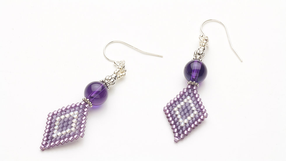 アメジスト(紫水晶)のピアス
