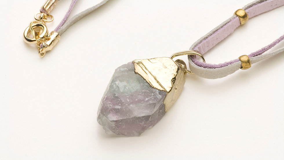 フローライト(蛍石)のネックレス