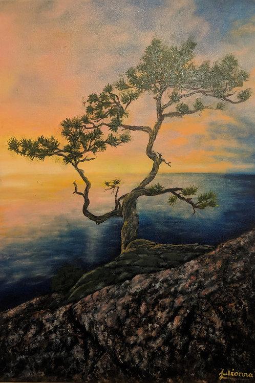 Julianna festmény - Magányos fa