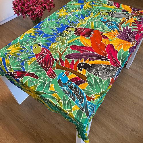 Lory papagájos asztalterítő