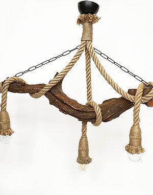 Windsor rönkfa és kötél lámpa
