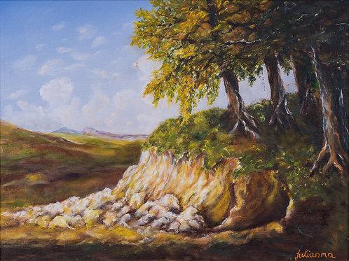 Julianna festmény - Tájkép, ősz