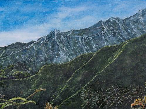 Julianna festmény - Kék hegyek Kelet-Jáván