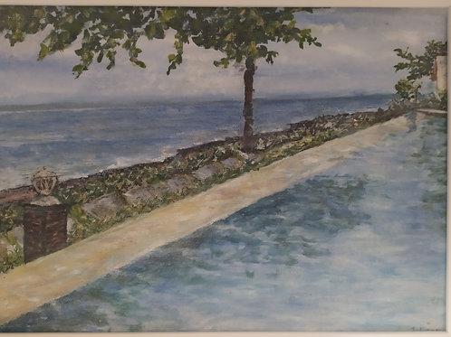 Julianna festmény - Víz, víz, Bali